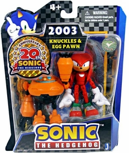 Sonic 20th Anniversary 3.5 Inch Action Figure 2003 Knuckles & Egg Pawn