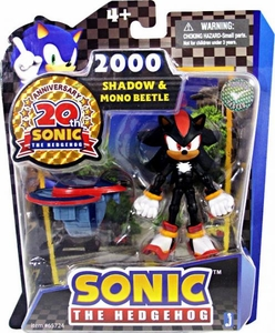 Sonic 20th Anniversary 3.5 Inch Action Figure 2000 Shadow & Mono Beetle