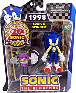 Sonic 20th Anniversary 3.5 Inch Action Figure 1998 Sonic & Spinner