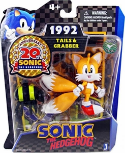 Sonic 20th Anniversary 3.5 Inch Action Figure 1992 Tails & Grabber