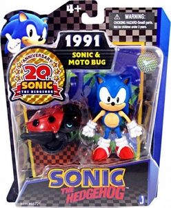 Sonic 20th Anniversary 3.5 Inch Action Figure 1991 Sonic & Moto Bug