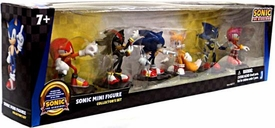 Sonic 20th Anniversary Exclusive 2 Inch Mini Figure 6-Pack Modern Collector's Set {Black Box Package!} [Knuckles, Shadow, Sonic, Tails, Metal Sonic & Amy]