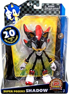 Sonic 20th Anniversary Super Posers Action Figure Shadow [Over 20 Points of Articulation!]