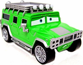TJ The Green Hummer [Oversize from Sarge's Boot Camp] LOOSE Disney / Pixar CARS Movie 1:55 Die Cast Car