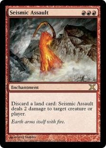 Magic the Gathering Tenth Edition Single Card Rare #228 Seismic Assault
