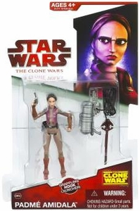 Star Wars 2009 Clone Wars Animated Action Figure CW No. 35 Padme Amidala