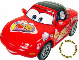 Tia [Red] LOOSE Disney / Pixar CARS Movie 1:55 Die Cast Car