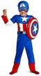 Disguise Costume Captain America #50125 Toddler Muscle [Child]