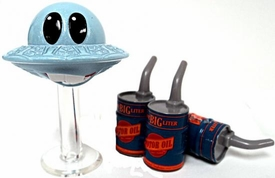 Mator with Oil Cans [Blue UFO] LOOSE Disney / Pixar CARS Movie 1:55 Die Cast Car