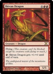 Magic the Gathering Tenth Edition Single Card Rare #230 Shivan Dragon