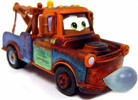 Blowing Bubbles Mater [Lenticular Eyes] LOOSE Disney / Pixar CARS Movie 1:55 Die Cast Car
