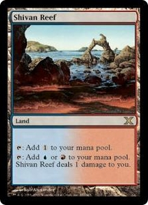 Magic the Gathering Tenth Edition Single Card Rare #357 Shivan Reef
