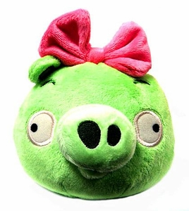 Angry Birds Girls 8 Inch DELUXE Plush With Sound Neutral Girl Pig with Pink Bow