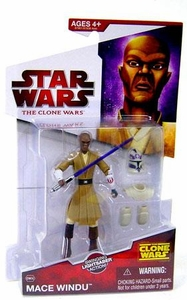 Star Wars 2009 Clone Wars Animated Action Figure CW No. 06 Mace Windu