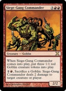 Magic the Gathering Tenth Edition Single Card Rare #234 Siege-Gang Commander