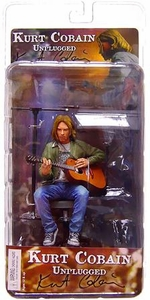 NECA 7 Inch Action Figure Kurt Cobain [Unplugged] Damaged Package; MINT Contents!