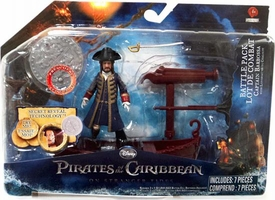 Pirates of the Caribbean On Stranger Tides Battle Pack Barbossa [Long Boat & Firing Projectile Net]