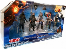Pirates of the Caribbean On Stranger Tides Exclusive 4 Inch Action Figure 5-Pack Gunner, Blackbeard, Captain Barbosa, Jack Sparrow & Angelica