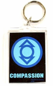 DC Direct Green Lantern Blackest Night Keychain Indigo Compassion