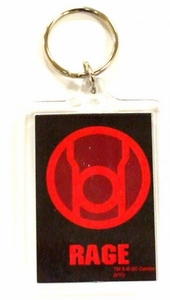 DC Direct Green Lantern Blackest Night Keychain Red Rage
