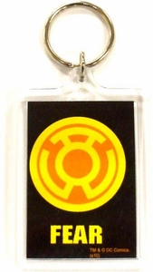 DC Direct Green Lantern Blackest Night Keychain Yellow Fear