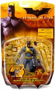 Batman Begins Movie Action Figure Zipline Attack Batman
