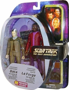 Diamond Select Toys Star Trek The Next Generation Exclusive Action Figure 2-Pack