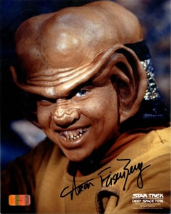 Deep Space Nine 8x10 Photo Ferengi Nog Signed Autographed Aron Eisenberg