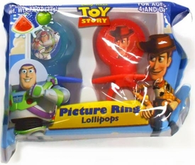 Disney Pixar Toy Story 2-Pack Picture Ring Lollipops [Buzz Lightyear & Woody]