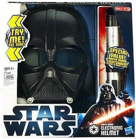 Star Wars 2012 Exclusive Electronic Darth Vader Helmet & Lightsaber