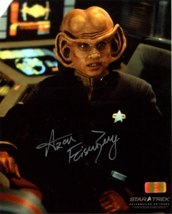 Star Trek 40 Years 8x10 Photo Ferengi Nog Signed Autographed Aron Eisenberg [Black Outfit]