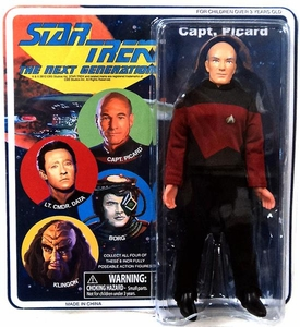 Diamond Select Star Trek The Next Generation Cloth Retro Action Figure Captain Picard