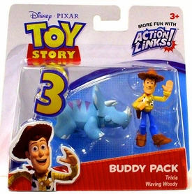 Disney / Pixar Toy Story 3 Action Links Mini Figure Buddy 2-Pack Trixie & Waving Woody