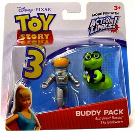 Disney / Pixar Toy Story 3 Action Links Mini Figure Buddy 2-Pack Astronaut Barbie & The Bookworm