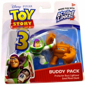 Disney / Pixar Toy Story 3 Action Links Mini Figure Buddy 2-Pack Buzz Lightyear & Good Mood Chunk