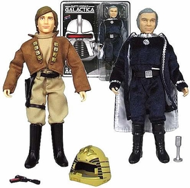 Bif Bang Pow! Battlestar Galactica Set of 2 Action Figures Lt. Starbuck & Cdr. Adama
