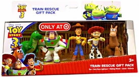 Disney Toy Story 3 Exclusive 5 Piece PVC Mini Figurine Collector Set Train Rescue [Rex, Hero Buzz Lightyear, Walking Woody, Jessie & Bullseye]