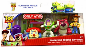 Disney Toy Story 3 Exclusive 5 Piece PVC Mini Figurine Collector Set Sunnyside Rescue [Stretch, Chatter Telephone, Protector Buzz Lightyear, Lotso & Hero Woody]