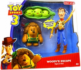 Disney / Pixar Toy Story 3 Exclusive 6 Inch Action Figure 2-Pack Woody's Escape [Includes Peas In A Pod]