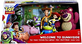 Disney / Pixar Toy Story 3 Exclusive Action Figure 7-Pack Welcome to Sunnyside [Rex, Hamm, Defender Buzz Lightyear, Alien, Sheriff Woody, Jessie & Lotso] BLOWOUT SALE!