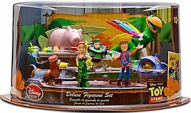 Toy Story 3 Exclusive PVC Hawaiian Vacation 7-Pack Deluxe Figurine Playset [Woody, Jessie, Buzz Lightyear, Slinky Dog, Rex, Hamm with two Space Aliens & Mr Pricklepants]