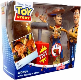 Disney / Pixar Toy Story Exclusive Action Figure Playset Woody with Barrel Blaster