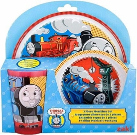 Thomas the Tank Engine & Friends 3-Piece Mealtime Set [Plate, Bowl & Tumbler]