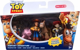 Disney / Pixar Toy Story Exclusive Mini Figure Gift Pack Airport Adventure [Prospector, Hamm, Hero Woody, Jessie & Flocked Bullseye]