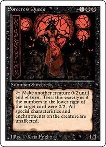 Magic the Gathering Revised Edition Single Card Rare Sorceress Queen Played Condition