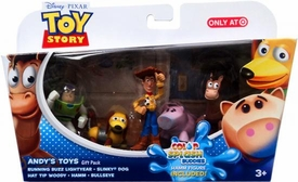Disney / Pixar Toy Story Exclusive Mini Figure Gift Pack Andy's Toys [Running Buzz Lightyear, Slinky Dog, Hat Tip, Bullseye & Color Splash Buddy Hamm]
