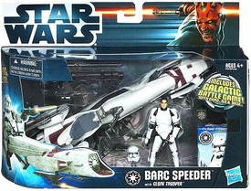Star Wars 2012 Clone Wars Vehicle & Action Figure BARC Speeder with Clone Trooper