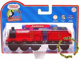 Thomas the Tank Train & Friends Wooden Railway Figure James with Character Card