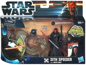 Star Wars 2012 Clone Wars Vehicle & Action Figure Sith Speeder with Darth Maul