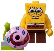 LEGO Spongebob LOOSE Mini Figure Spongebob with Gary the Snail